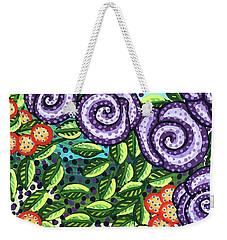 Floral Whimsy 11 Weekender Tote Bag