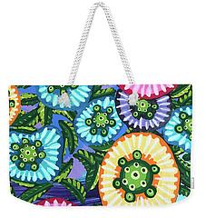 Floral Whimsy 6 Weekender Tote Bag