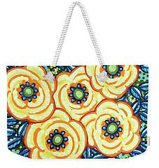 Floral Whimsy 7 Weekender Tote Bag