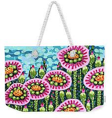 Floral Whimsy 8 Weekender Tote Bag