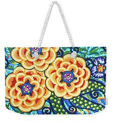 Floral Whimsy 9 Weekender Tote Bag