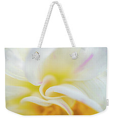 Weekender Tote Bag featuring the photograph Flower Curves by Francisco Gomez