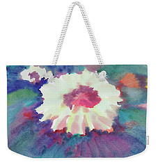 Weekender Tote Bag featuring the painting Flowering Abstract 2 by Dobrotsvet Art