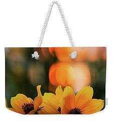 Flowery Bokeh Sunset Weekender Tote Bag