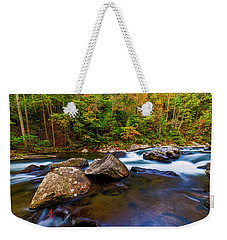 Weekender Tote Bag featuring the photograph Flowing Waters by Andy Crawford