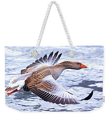 Weekender Tote Bag featuring the photograph Fly-by by Debbie Stahre