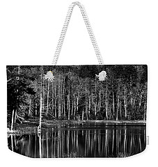 Weekender Tote Bag featuring the photograph Fly Pond Reflection by David Patterson