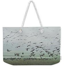Foggy Arrival Weekender Tote Bag
