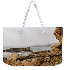 Weekender Tote Bag featuring the photograph Foggy Laguna Beach by Brian Eberly