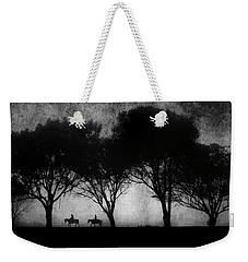 Foggy Morning Ride Weekender Tote Bag