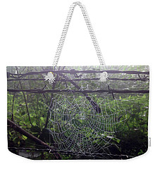 Weekender Tote Bag featuring the photograph Foggy Web by Ericamaxine Price
