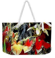 Weekender Tote Bag featuring the digital art Foilage by Pennie McCracken