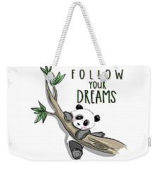 Follow Your Dreams - Baby Room Nursery Art Poster Print Weekender Tote Bag