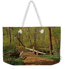 Footbridge Through The Woods Weekender Tote Bag