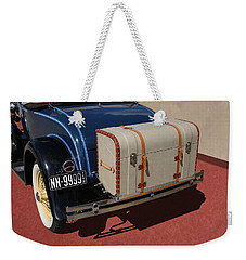 Weekender Tote Bag featuring the photograph 1931 Ford Model A Roadster by Debi Dalio