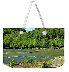 Weekender Tote Bag featuring the photograph Forest At Cumberland River by Angela Murdock