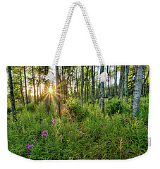 Weekender Tote Bag featuring the photograph Forest Growth Alaska by Nathan Bush