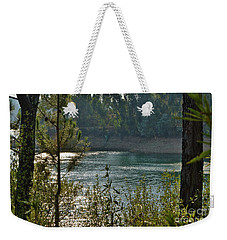 Forest Lake In Amendoa Weekender Tote Bag