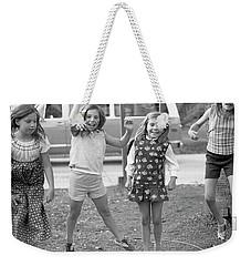 Four Girls, Jumping, 1972 Weekender Tote Bag