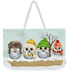Four Winter Owls Weekender Tote Bag
