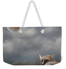 Fox In Moonlight Square Weekender Tote Bag