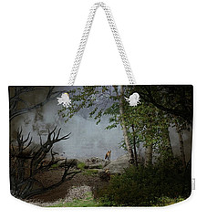 Fox On Rocks Weekender Tote Bag