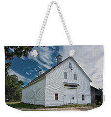 Weekender Tote Bag featuring the photograph Freeport Barn by Guy Whiteley