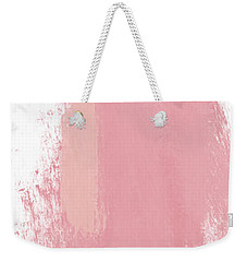 Weekender Tote Bag featuring the mixed media Fresh Abtract 3 Tall- Art By Linda Woods by Linda Woods