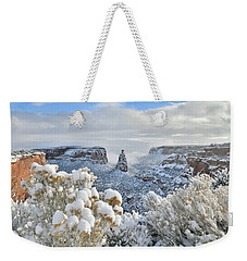 Fresh Snow At Independence Canyon Weekender Tote Bag