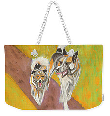 Weekender Tote Bag featuring the painting Friends by Dobrotsvet Art