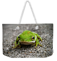 Weekender Tote Bag featuring the photograph Frogger by Vincent Autenrieb