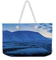 frozen coastline near Longyearbyen Weekender Tote Bag