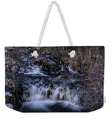 Frozen River In Forest - Long Exposure With Nd Filter Weekender Tote Bag