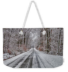 Frozen Road Weekender Tote Bag