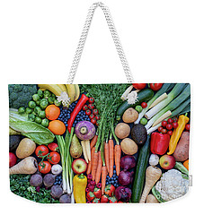 Weekender Tote Bag featuring the photograph Fruit And Vegetables by Tim Gainey