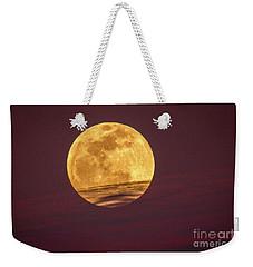 Full Moon Above Clouds Weekender Tote Bag