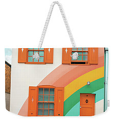 Funky Rainbow House Weekender Tote Bag