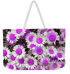 Weekender Tote Bag featuring the digital art Fuscia Girls by Cindy Greenstein