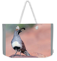 Gambels Quail Three Weekender Tote Bag