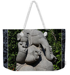 Weekender Tote Bag featuring the photograph Ganesha In The Garden by Debi Dalio