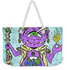 Weekender Tote Bag featuring the digital art Gautama Buddha Colour Illustration by Sotuland Art