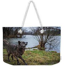 Get The Stick Weekender Tote Bag