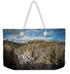 Weekender Tote Bag featuring the photograph Gibbon Falls In Yellowstone by Mark Duehmig