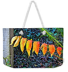 Weekender Tote Bag featuring the photograph Gilding Gold Leaf by Don Moore