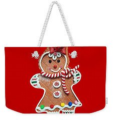 Weekender Tote Bag featuring the photograph Gingerbread Cookie Girl by Rachel Hannah