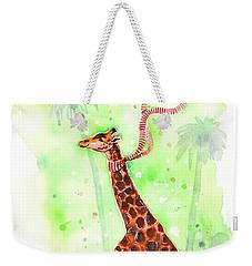 Giraffe In A Beetle Weekender Tote Bag