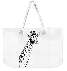 Giraffe In Black And White Weekender Tote Bag