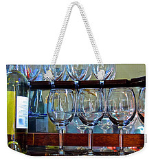 Weekender Tote Bag featuring the photograph Glass Act... by Don Moore