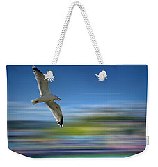 Weekender Tote Bag featuring the photograph Gull Flight #192 by Edmund Nagele