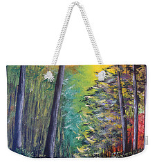 Glowing Forrest Weekender Tote Bag